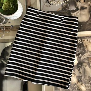 just ginger Skirts - Navy Striped Skirt
